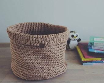 Kids room basket, big rope basket, toys basket, magazines basket, diaper basket, room organizer, woven basket, toys storage, laundry basket