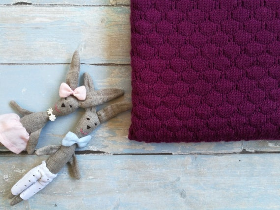 blanket-bassinet cover-blankets/&throws Knitted Newborn Throw Blanket Super Chunky Knit Blanket Alpaca Wool Knit Baby Blanket