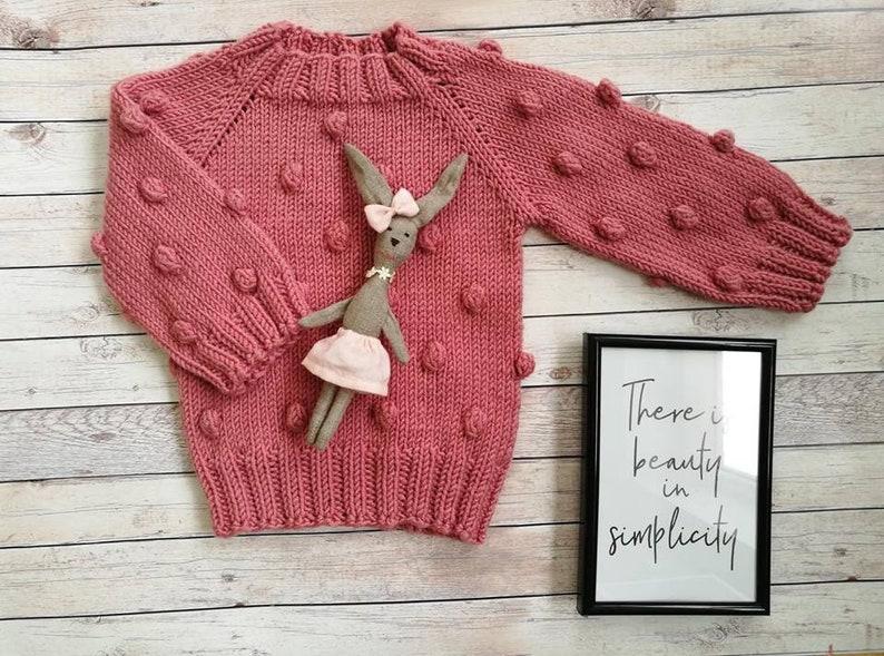 2322c952c43b Hand knit baby sweater merino wool sweater navy hand knitted