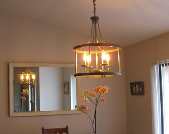Farmhouse Metal Light Fixture - Hand Made