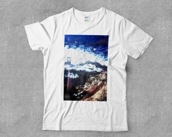 The Watchers of the Mountains Visionary Art Spiritual Anime Nature DMT LSD Psychedelic Short-Sleeve T-Shirt
