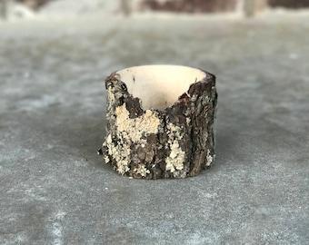 live edge wood bowl