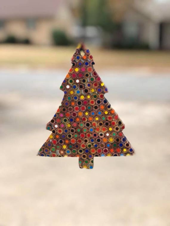 Pencil Christmas Tree.Colored Pencil Christmas Tree Ornaments