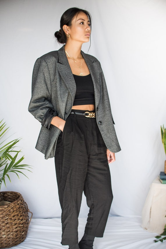 Women's Vintage Oversized Blazer - Large/XL (70's