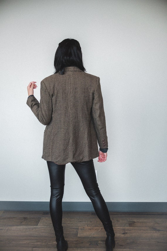 Brown Wool Oversized Blazer | Women's Vintage Ove… - image 5