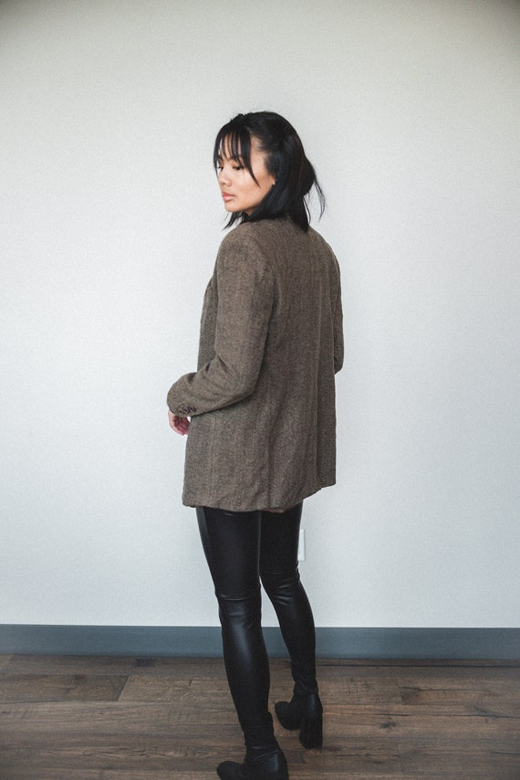 Brown Wool Oversized Blazer | Women's Vintage Ove… - image 4