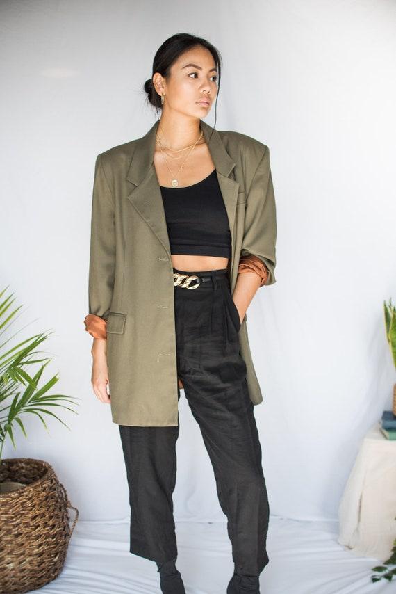 Women's Vintage Oversized Blazer - Large/XL (70's… - image 3