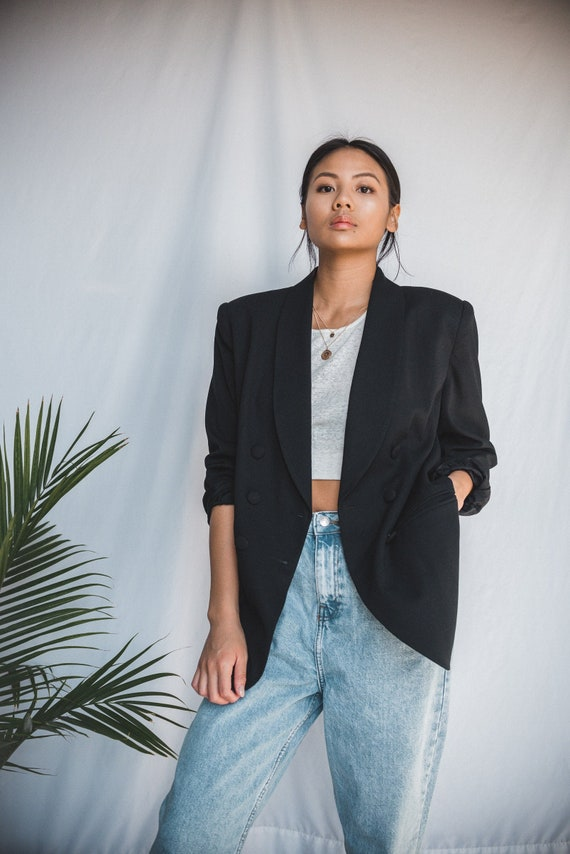Black Oversized Blazer | Women's Vintage Oversized