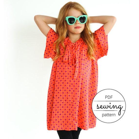 girls dress pattern kids sewing modern pattern summer | Etsy