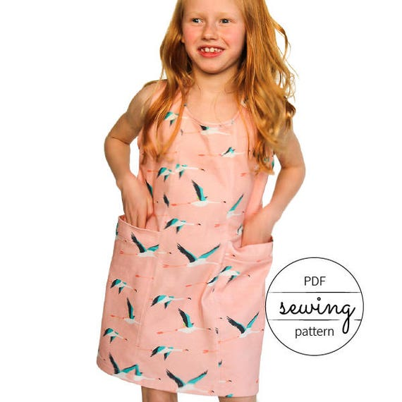 girls dress pattern beginner pattern kids sewing modern | Etsy