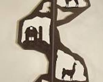 Floor Stand Toilet Paper Holder - Llama Design