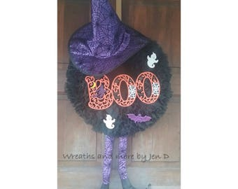 Witch Boo Wreath