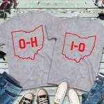 Couples Shirts, Ohio State Shirts, O-H Shirt, I-O Shirt