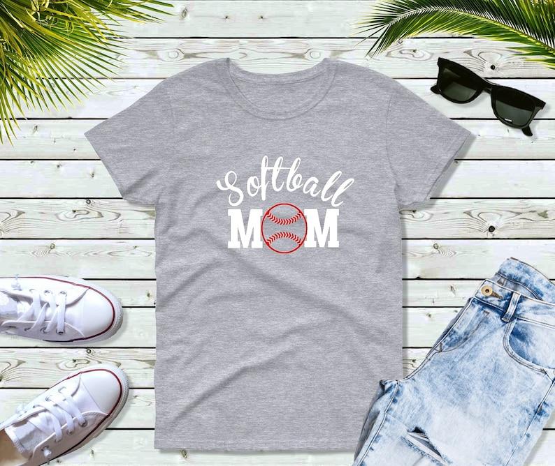 Softball Mom Shirt Mom Life Shirt Gift for Mother image 0