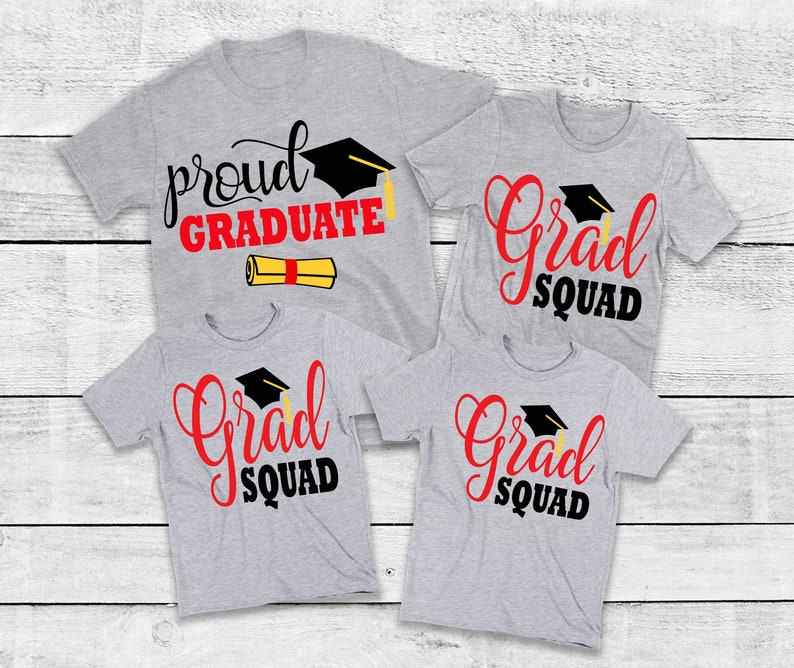 Graduation Shirts for Family Family Matching Graduate Squad image 0