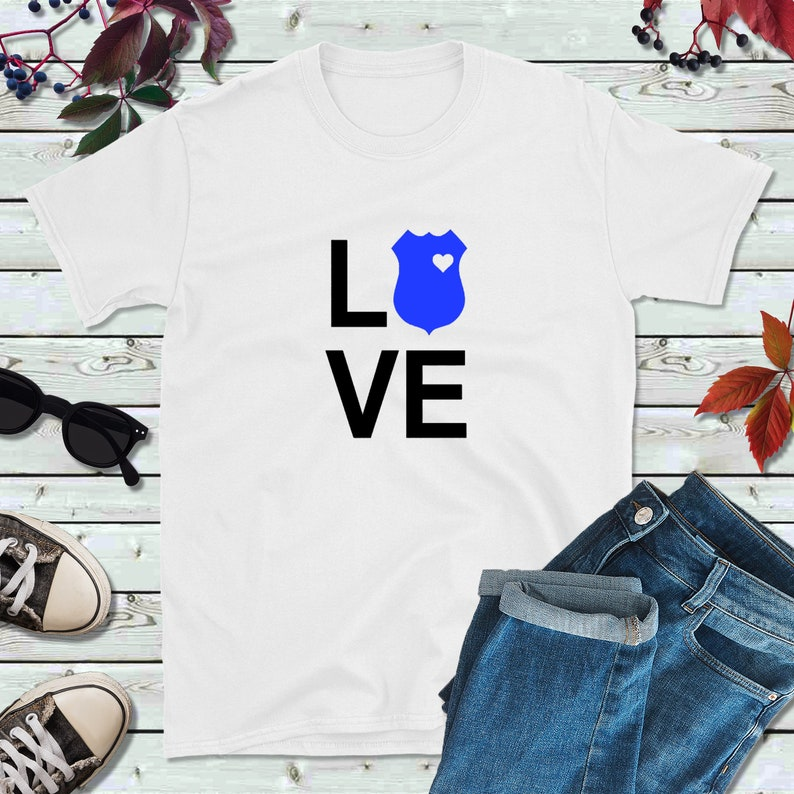 Police Shirt Police Officer Gift Love Police Shirt image 0