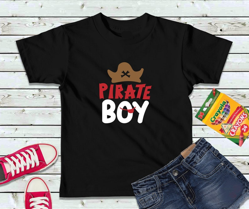 Pirate Boy Shirt Boys Shirt Kids Shirt image 0