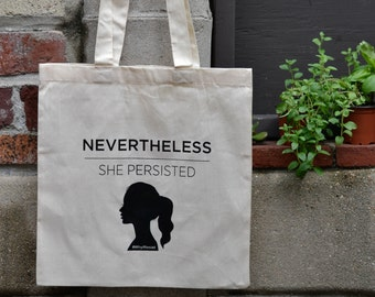 She Persisted Tote Bag, Grocery Bag, Market Bag