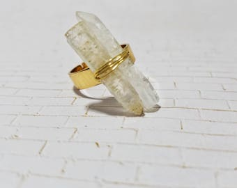 Adjustable Glass Crystal Ring - Jewelry - Rings