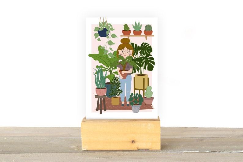 girl with plants image 1