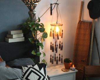 Tassel mobile - Air dry clay - Boho decor - Bohemian - Wood - Beads - Home decor - Wall decor