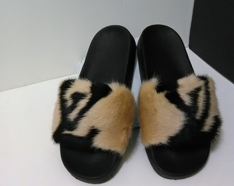 2760be5168e1 Mink Slides - Designer Inspired Slides