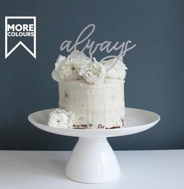 Wedding Cake Topper Simple Cake Topper Always Cake Topper Harry