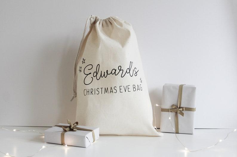 Christmas Eve Bag Custom Santa Sack Christmas Eve Gift image 0