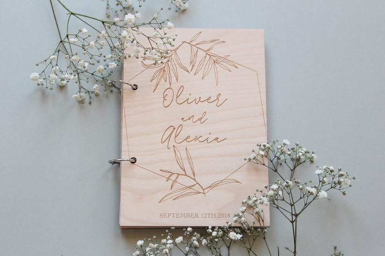 Hochzeit Gästebuch mit Gravur