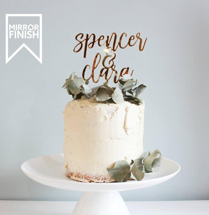 Wedding Cake Topper Custom Wedding Cake Topper Personalised image 0