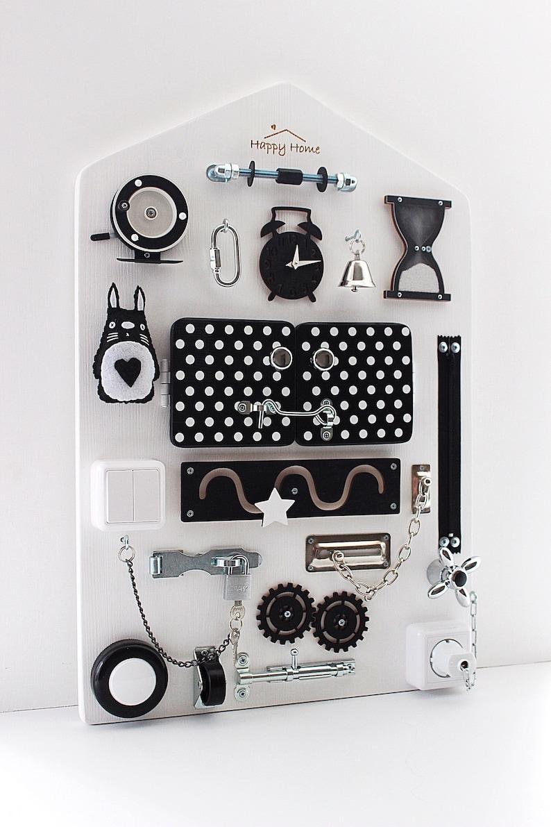 Baby Sensory Board Wall Montessori Latch Board Fine Motor - Créatrice ESTY : BusyboardHappyHome