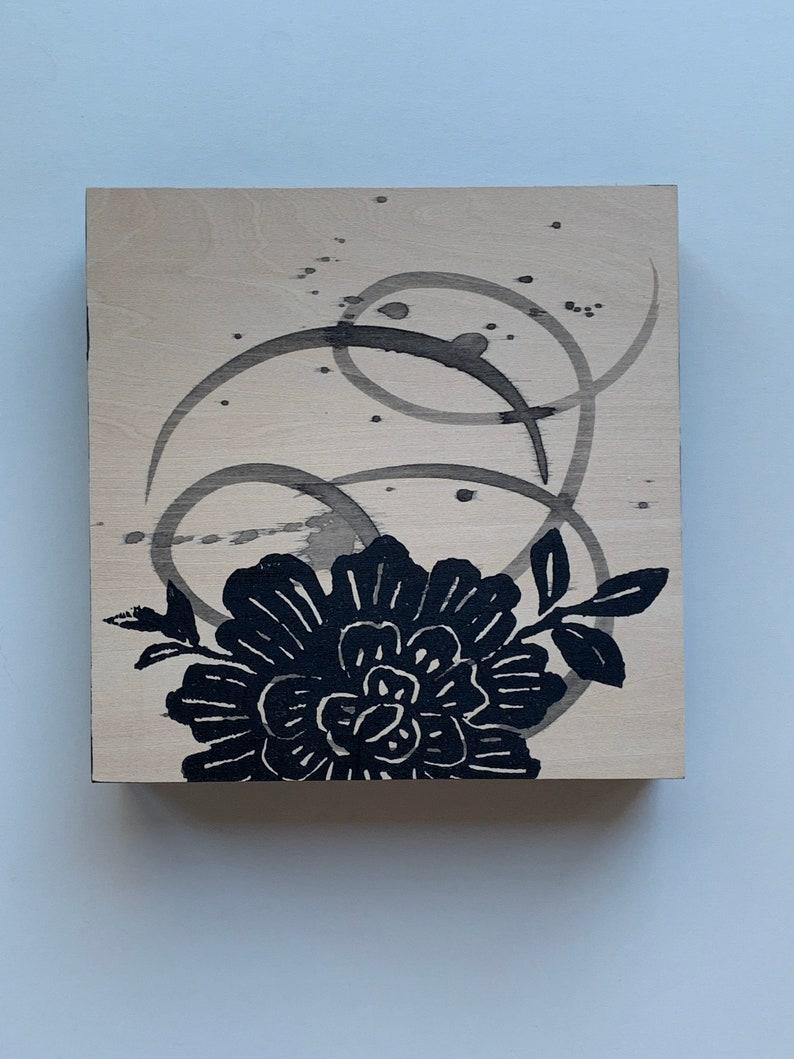 Minimalism Minimalist Wall Art Decor Minimalist Art Linoleum Print Block Print OOAK Black Modern Wall Decor Original Art Modern Art
