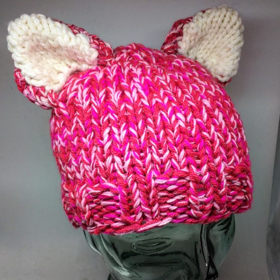 Hand knit cat ears Pussy hat #resist