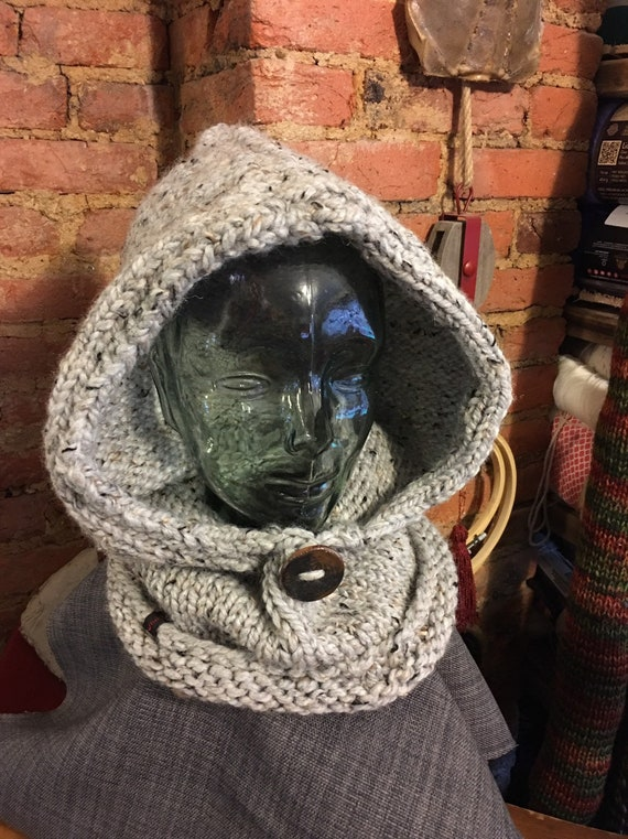 Warm winter cowl hood in your colors