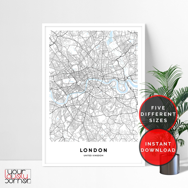 London Karte London Karte Drucken Stadtplan von