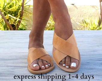 ERIS sandals  ancient Grecian leather sandals  slide sandals  classic  leather sandals  handmade sandals  summer sandals  criss cross sandals cf13cd79f