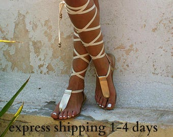 29111ade8961d3 IRINI 3 leather gladiator sandals  ancient Greek sandals  lace up sandals   wedding sandals  handmade gold sandal  T-strap sandal
