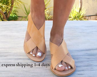 a0c433ae0863 APOLLONIA sandals  ancient Greek leather sandals  classic leather sandals  handmade  sandals  slingback sandals  criss cross sandals