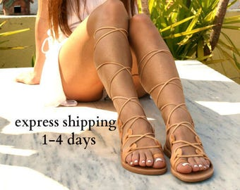 75def71224e7 AMAZONA leather gladiator sandals  ancient Greek sandals  lace up sandals   spartan sandals  handmade natural leather sandal  strappy sandal