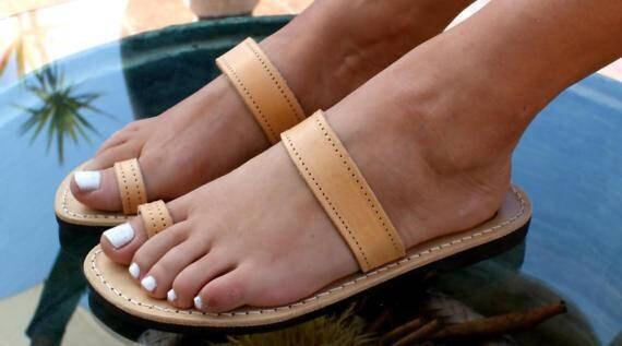 bague d sandales sandales grec en grecques cuir sandales antique Sandales EKAVI ancient qUwPBcvF
