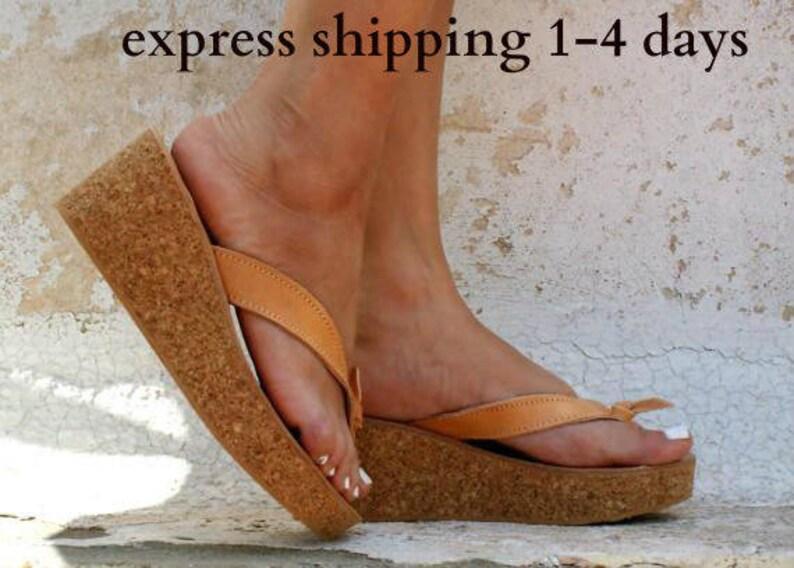 0ccccf1b8c8a CASTALIA sandals  cork wedge platform  Greek leather sandal