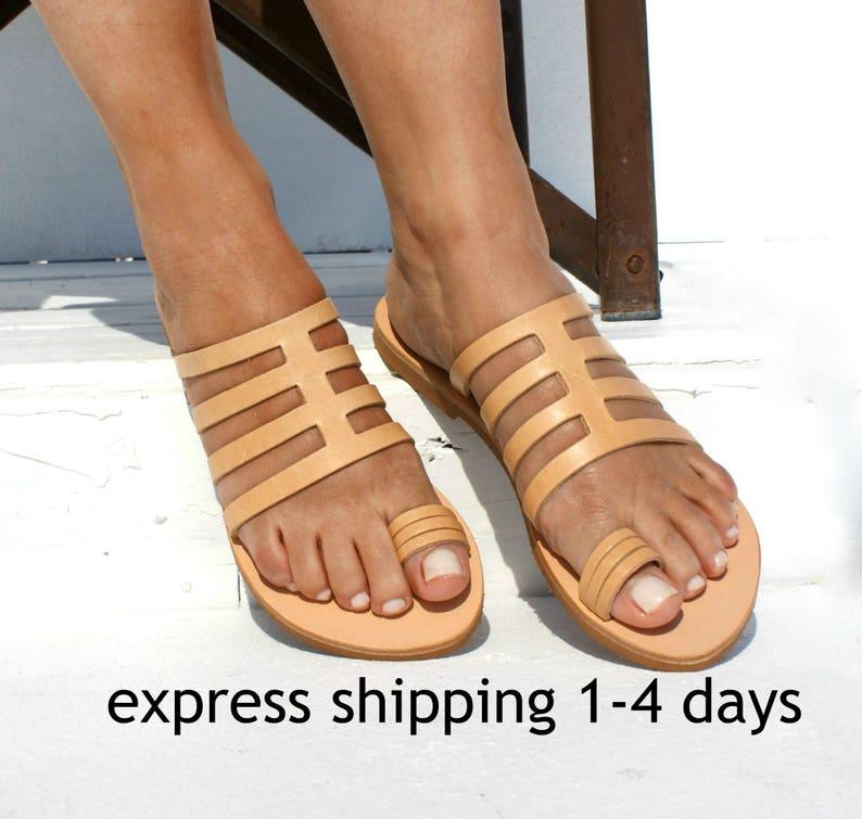 d39a467e5b87 SOPHIA women leather sandals  ancient Greek leather sandals