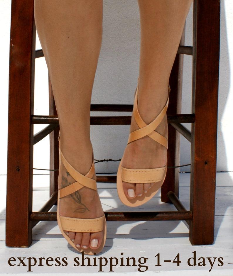 e323d731768a8 THETIS sandals/ ancient Greek leather sandals/ classic leather sandals/  handmade sandals/ natural leather sandal/ criss cross strap sandals