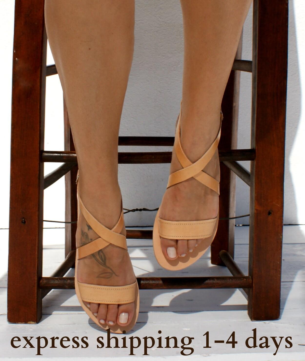 9db83e4ddd06 THETIS sandals  ancient Greek leather sandals  classic leather sandals   handmade sandals  natural leather sandal  criss cross strap sandals