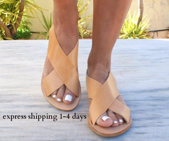 6751c9246a53 APOLLONIA sandals  ancient Greek leather sandals  classic leather sandals   handmade sandals  slingback sandals  criss cross sandals