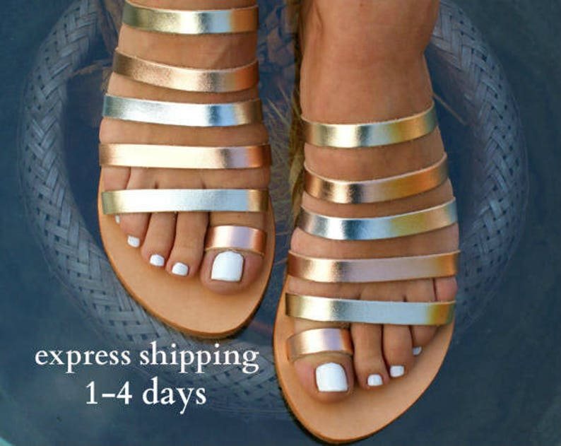 2dae6d4ac5871 IONIA 2 sandals/ ancient Greek leather sandals/ strappy sandals/ roman  sandals/ toe ring sandals/ classic leather sandals/ gold sandals