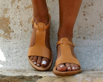 CASSANDRA sandals/ women Greek leather sandals/ roman sandals/ ancient Greek sandal/ womens leather sandals/ natural color leather sandals