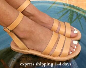 Sandales DODONI / ancient sandales en cuir grec classique sandales en cuir / main sandales / naturel sandale en cuir / lanières sandales