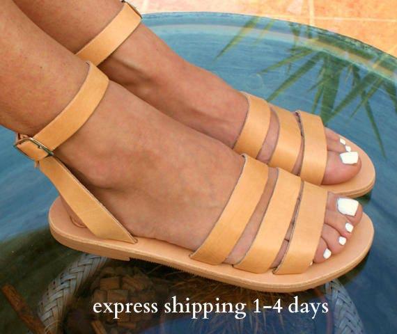 ec23697dd141 DODONI sandals  ancient Greek leather sandals  classic leather sandals   handmade sandals  natural leather sandal  strappy sandals