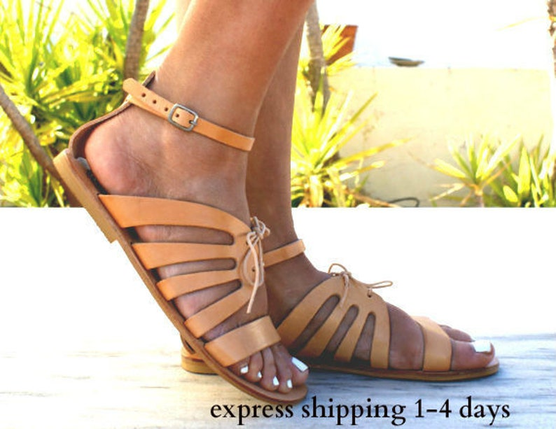 bb8e32f262a7 CRETE sandals  Greek leather sandals  Gladiator sandals